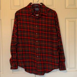 Men's Pendleton plaid long-sleeve shirt